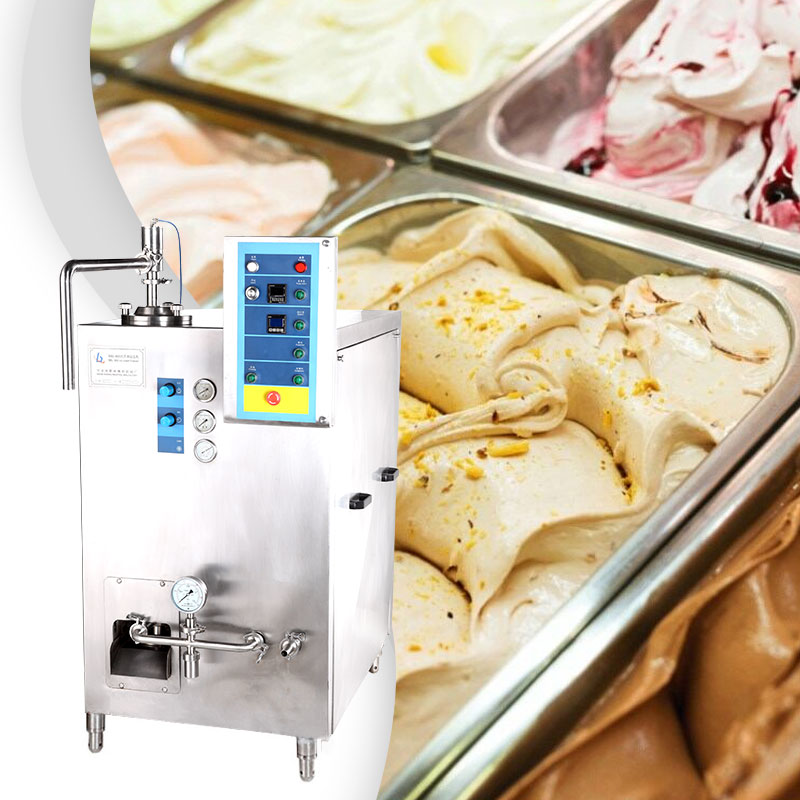 What is the working principle of ice cream machine?
